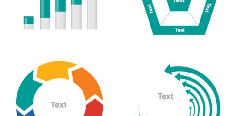 Clean Business Data Statistic Design Elements for Infogrpahics