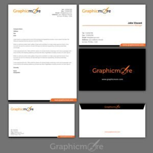 Clean Corporate Identity Design Free PSD File by GraphicMore