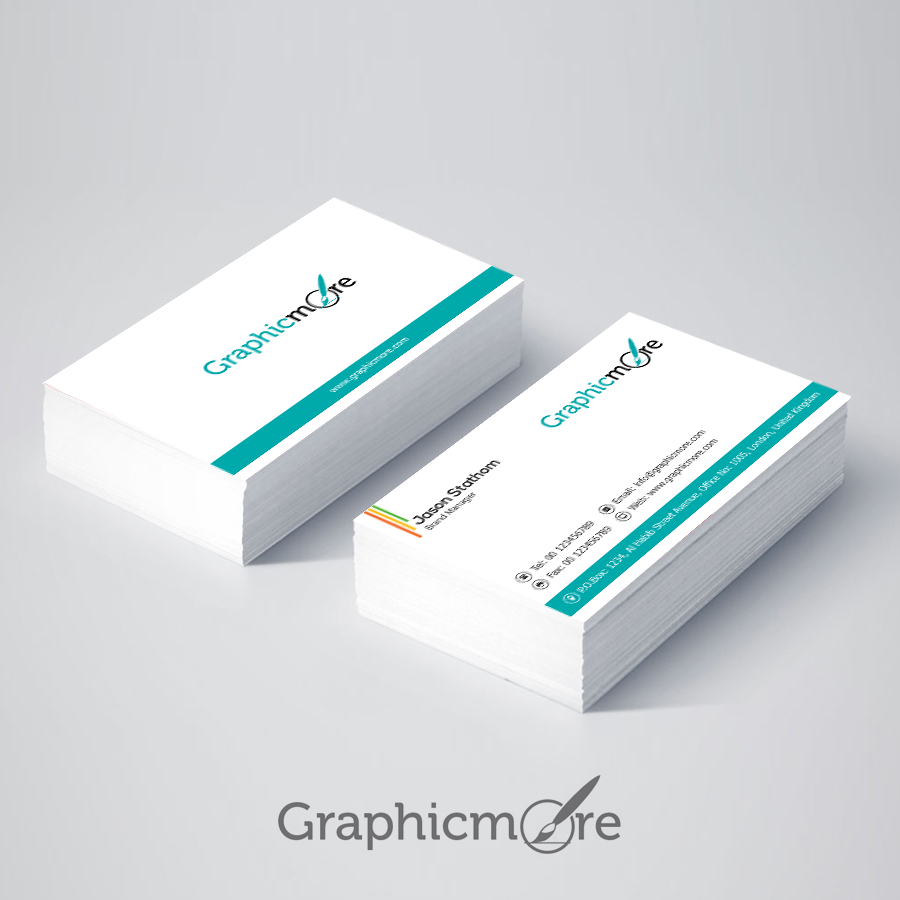 Clean & Corporate Minimal Business Card Design Free PSD