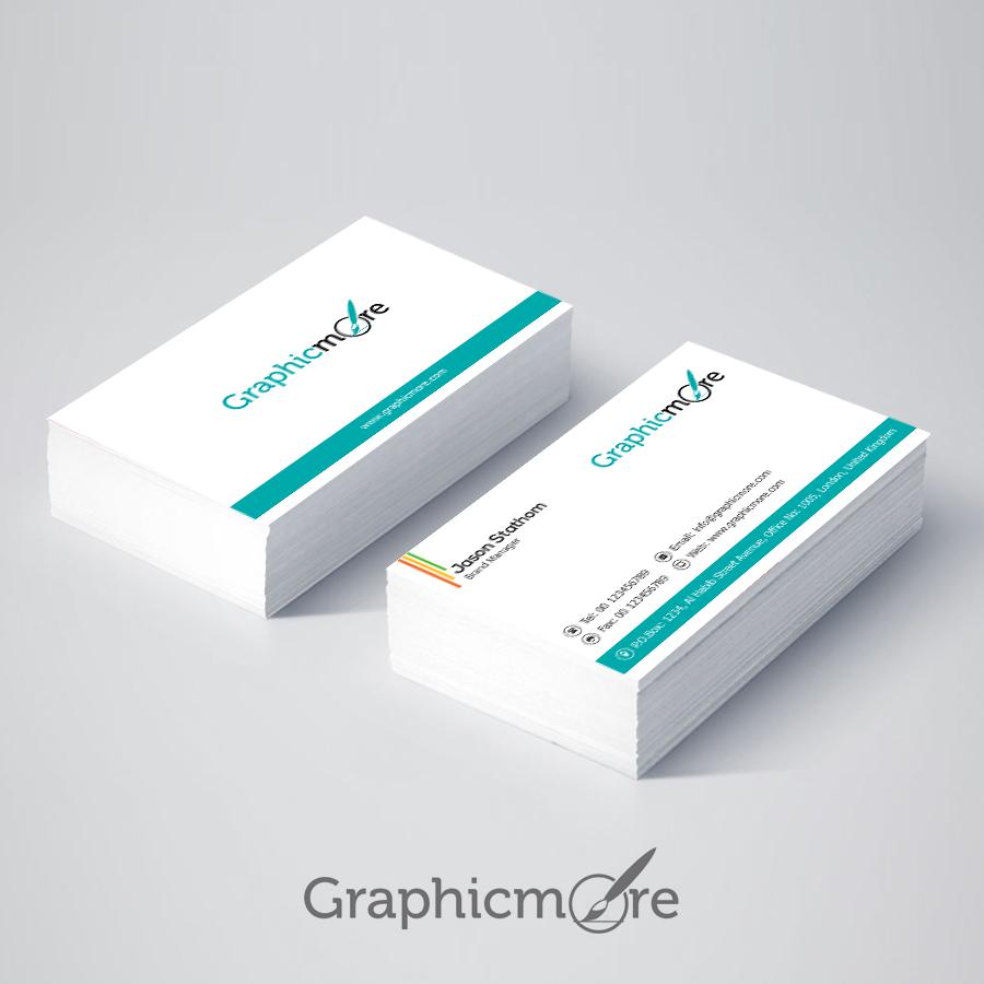 Clean & Corporate Minimal Business Card Design Free PSD