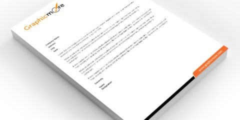 Clean Letterhead Design Free PSD File by GraphicMore