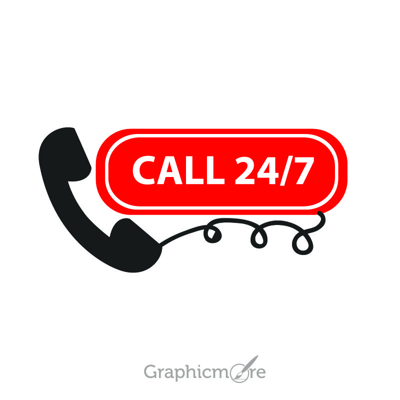 Contact Support Button Free Vector File by GraphicMore