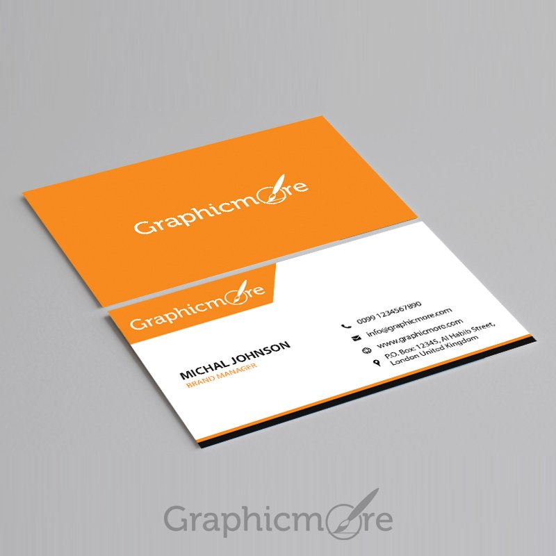 Corporate Business Card Template Design Free PSD File
