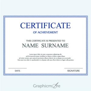 Corporate Cerificate Template Design Free Vector File