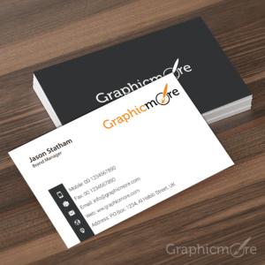 Corporate & Elegant Gray Business Card Template Design Free PSD File