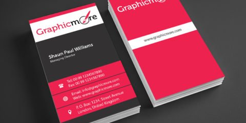 Corporate Vertical Business Card Design Free PSD File