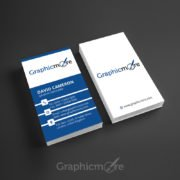 Corporate Vertical Business Card Template Design Free PSD File by Graphicmore