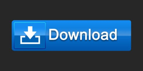 Creative Blue Download Button Free PSD File