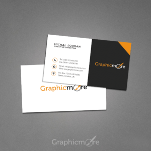 Creative Dark Business Card Design by Graphicmore