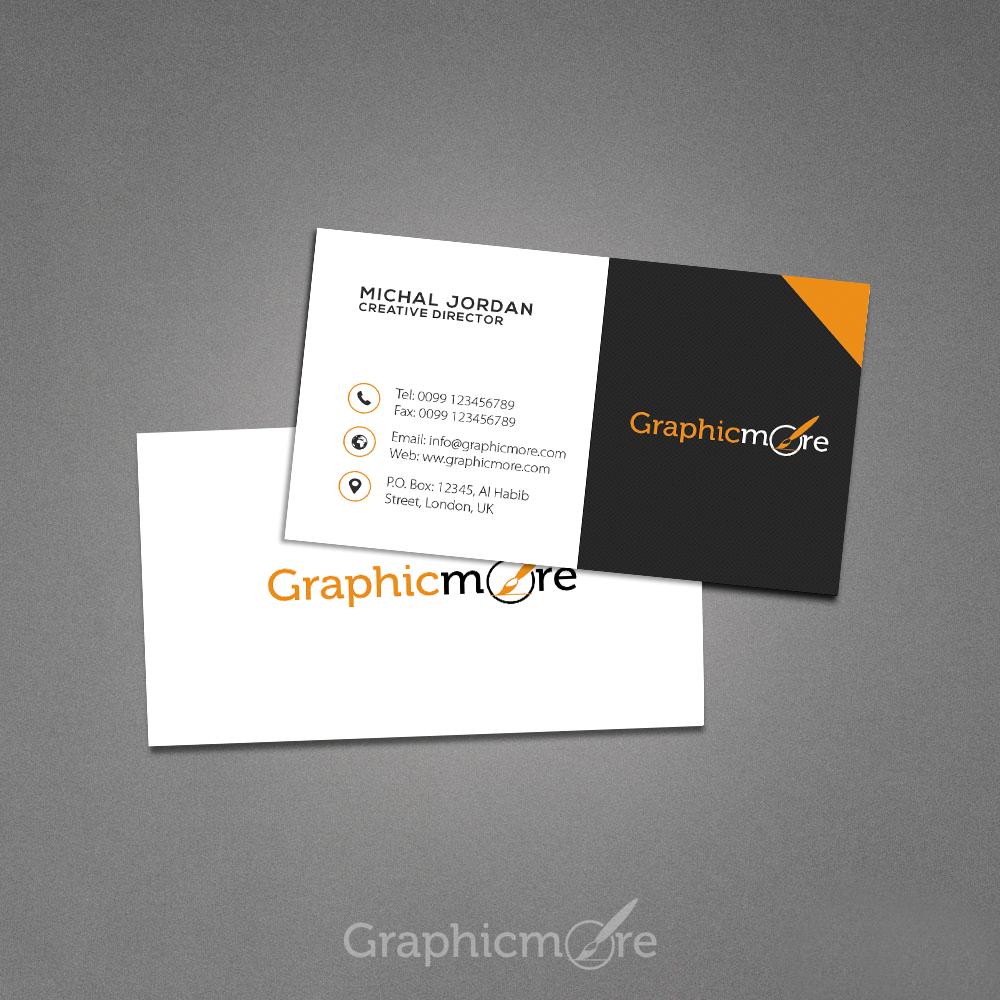 Creative Dark Business Card Design by Graphicmore