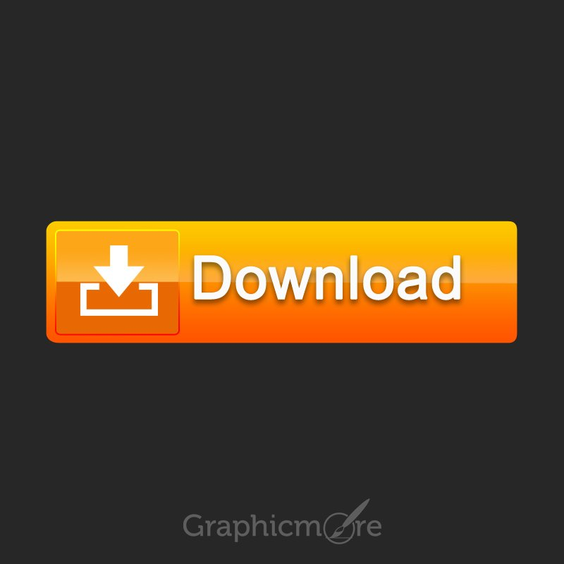 Creative Orange Download Button Free PSD File