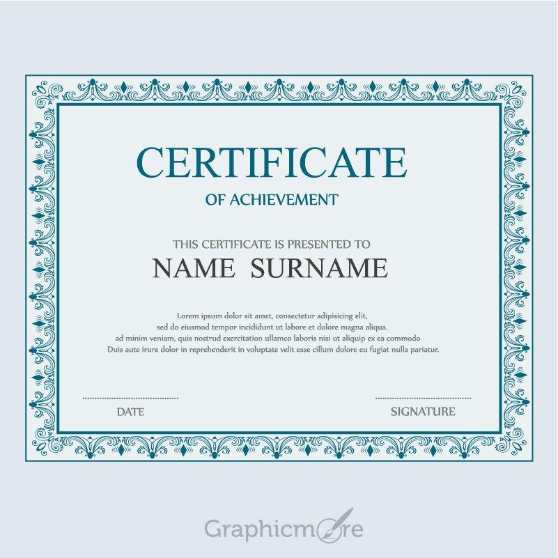 Elegant Certificate Template Design Free Vector File