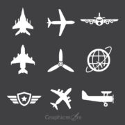 Free Avion Icons Set Design
