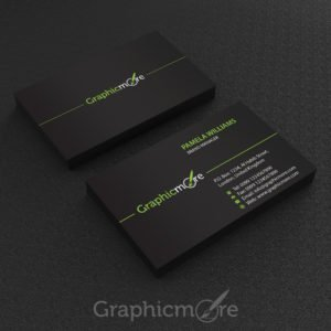 Free Black Business Card Template Design by GraphicMore