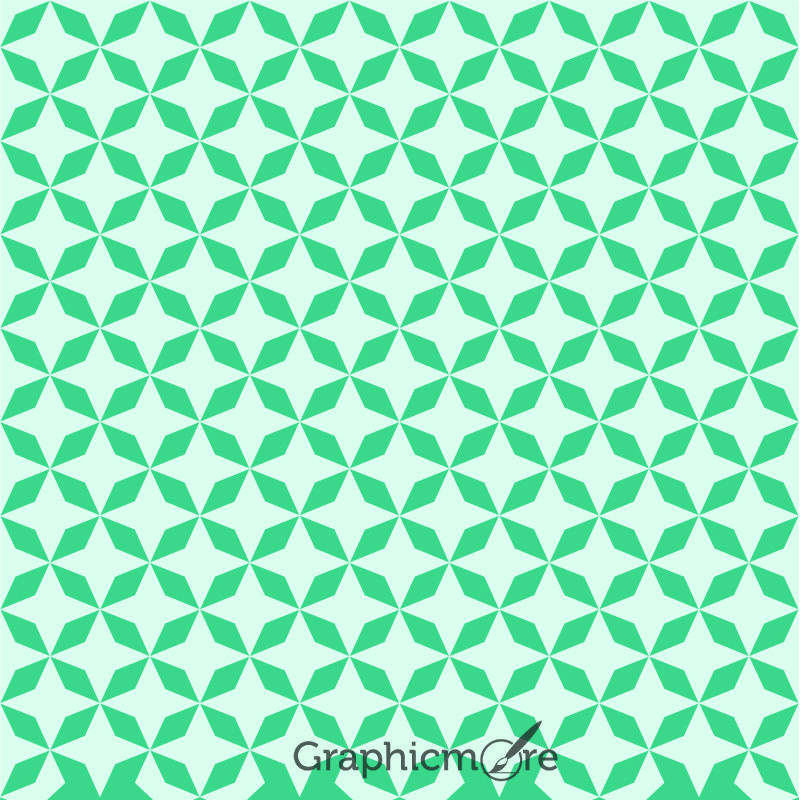 Geometric Green Background Pattern Design