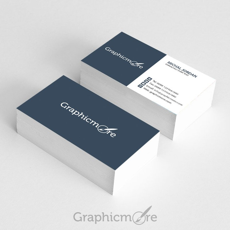 Business Card Poshop Template | Graphicmore Business Card Template Free Psd File