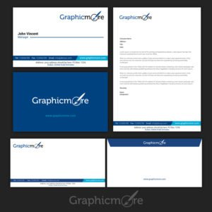 GraphicMore Navy Blue Branding Identity Design Free PSD File