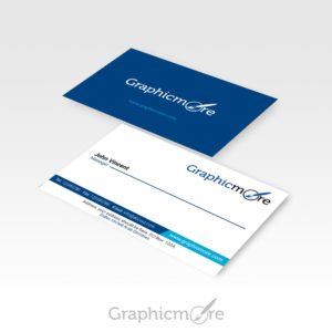 GraphicMore Navy Blue Business Card Design Free PSD File