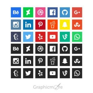 GraphicMore Social Media Icons Design Free Vector File