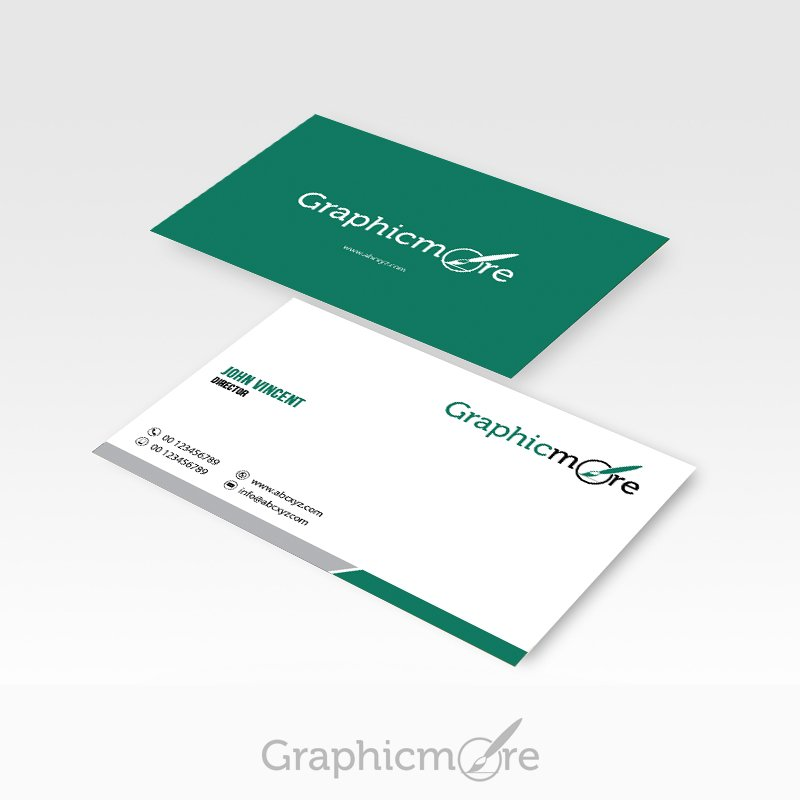 Green Corporate Business Card Design Free PSD File