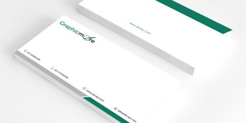 Green Corporate Envelope Design Free PSD File