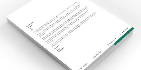 Green Corporate Letterhead Design Free PSD File