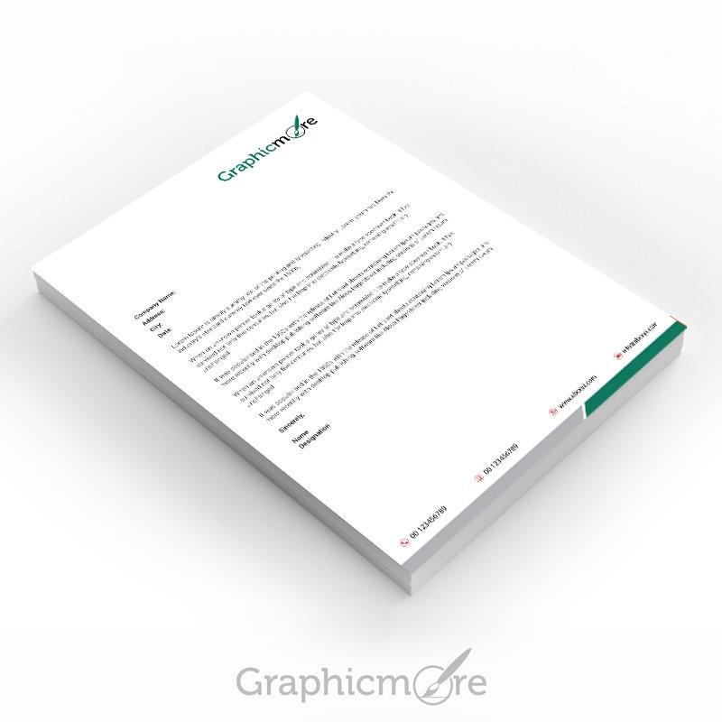 Green Corporate Letterhead Design Free PSD File