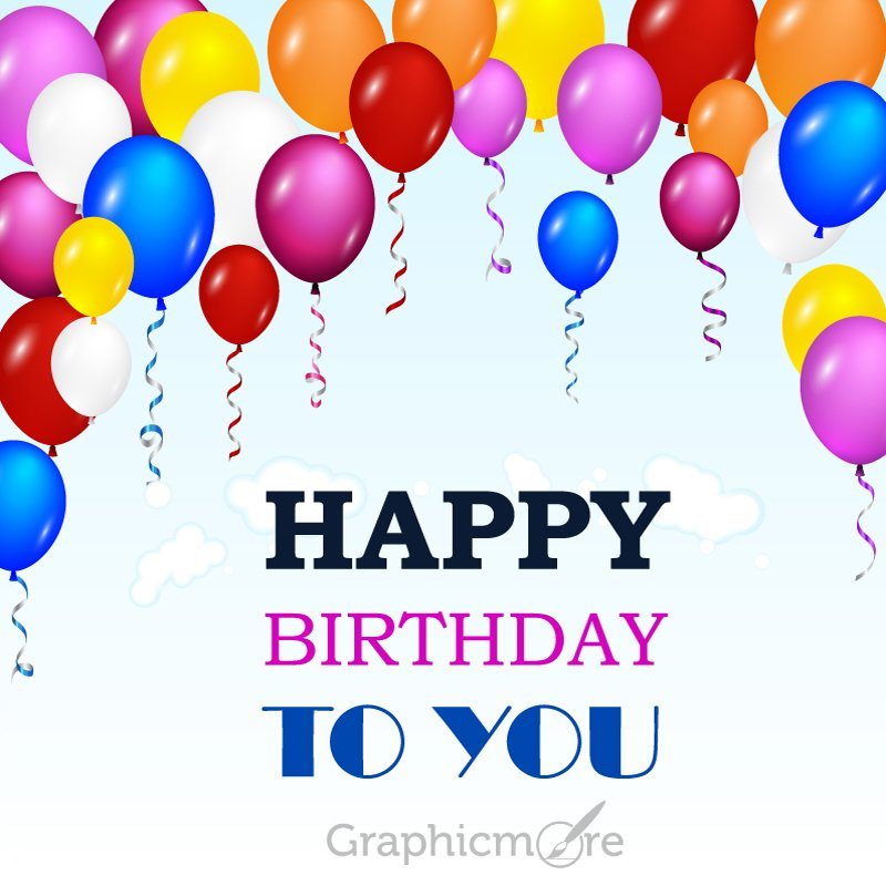 Happy Birthday Greeting Card Design Free Vector File