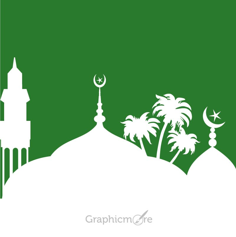 Islamic Mosque Design Free Vector File