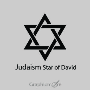 Judaism Star of David Symbol Design Free Vector File