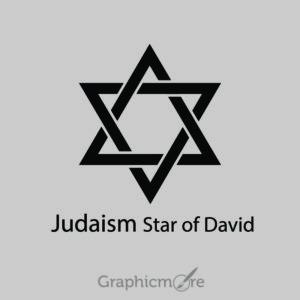 Judaism Star of David Symbol Design Free Vector File