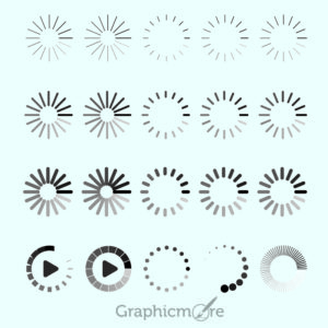 Loading Icon Design Free Vector File by GraphicMore