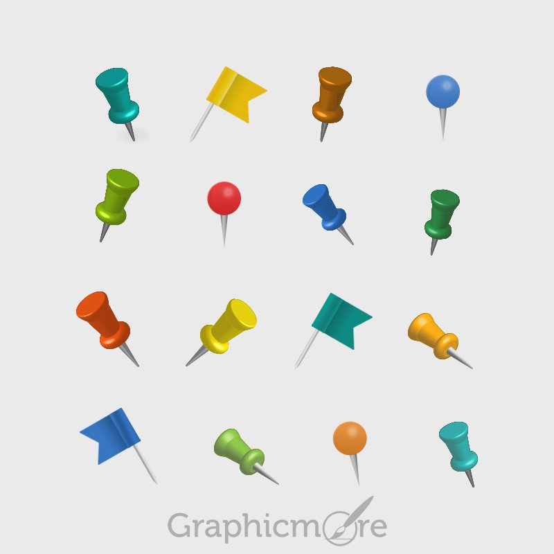 Location Map Pins Free PSD File Download
