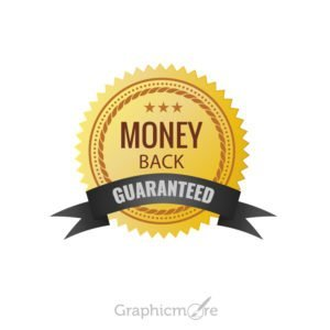 Money Back Guaranteed Badge Design Free Vector File