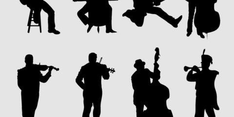 Musicians Silhouetter Set Design