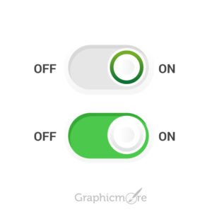 On Off Toogle Button Free Vector File by GraphicMore