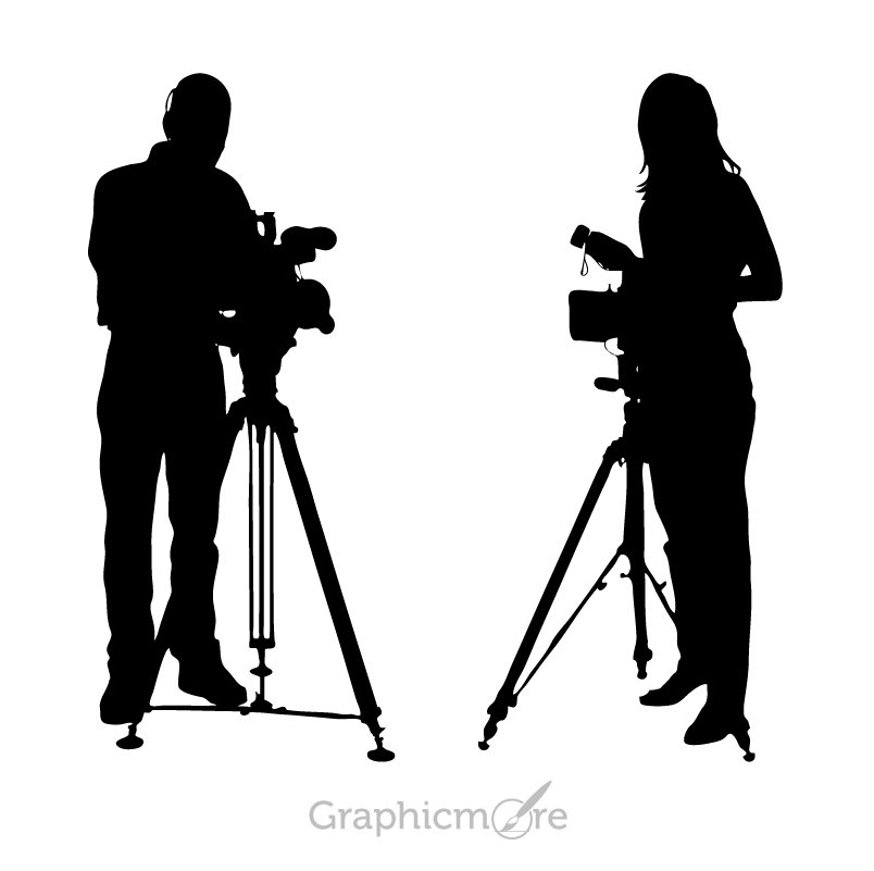 Photographer Silhouette Design Free Vector