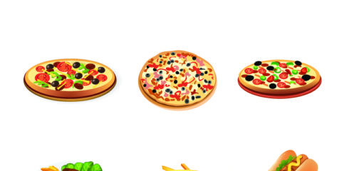 Pizza Hamburger Food Design Free Vector Graphics