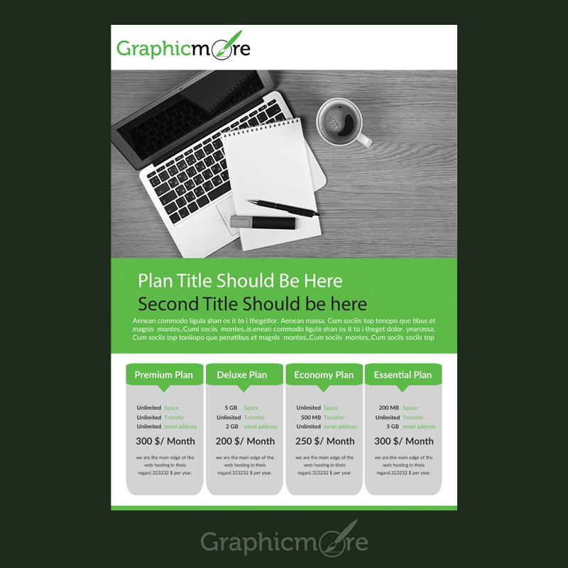 Pricing Table Flyer Design Free PSD File