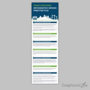 Professional Steps Infographic Design Free PSD File
