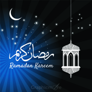 Ramadan Celebration Card Design Free Vector File