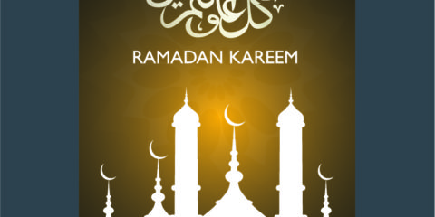 Ramadan Kareem Brown Poster Design Free Vector File