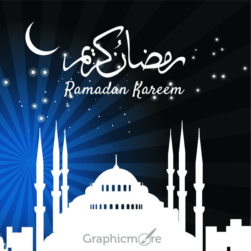 Ramadan Kareem Greeting Card Design Free Vector File