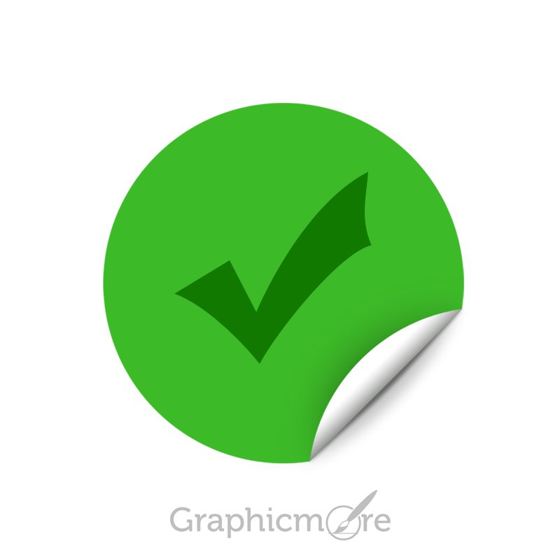 Right Check Mark Button Free PSD File