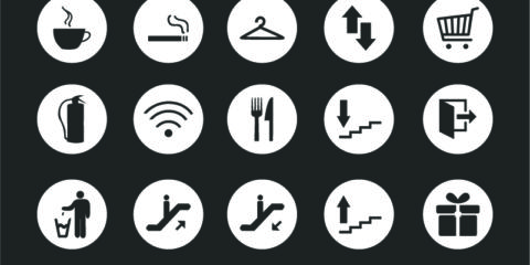 Service Sign Round Icons Design Collection Free Vector File by GraphicMore