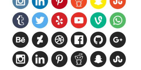 Social Media Icons Design Free Vector File by GraphicMore