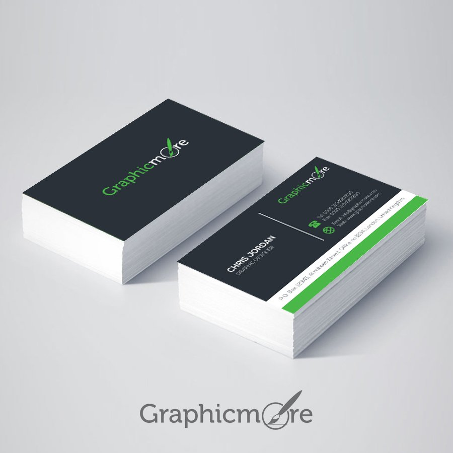 Stylish Business Card Template Design Free AI File