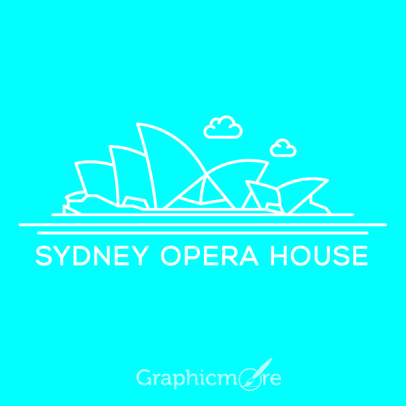 Sydney Opera House Free Vector File By GraphicMore
