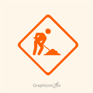 Under Construction Icon Design Free Vector File by GraphicMore