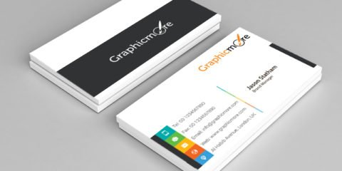 Vibrant Multicolor Business Card Template Design Free PSD File